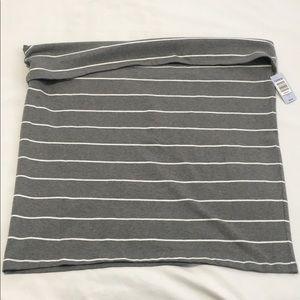 Gray and white stripe skirt-Torrid size 4